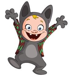 werewolf kid vector image