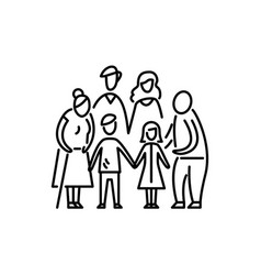 big family children parents and grandparents vector image