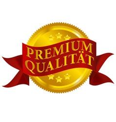 premium quality seal german version vector image vector image