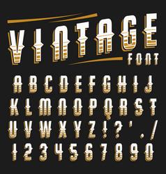 set of vintage font vector image