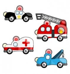 emergency vehicles vector image