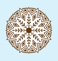 henna tattoo brown mehndi flower template doodle vector image vector image