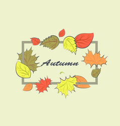 autumn square frame vector image vector image