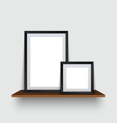 modern two empty frames standing on a vector image vector image