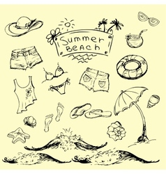 set of summer travel and vacation emblems vector image vector image