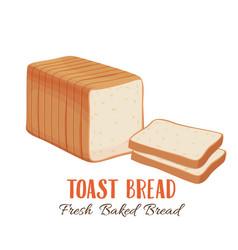 toast bread icon vector image