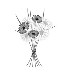 a bouquet of fresh flowers single icon in vector image