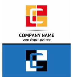 Abstract icon logo for letter c template vector