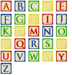 alphabet bablocks vector image