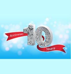 anniversary 10 th vector image