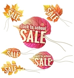 Back to School Sale tags EPS 10 vector