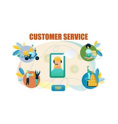 Banner customer service online store vector