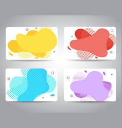 banners credit cards voucher certificate or vector image