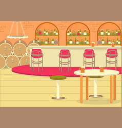 Beer and wine cellar nice place to grab bottle vector