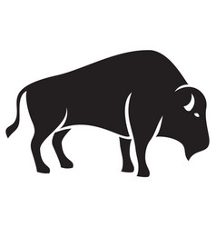 bison silhouette vector image