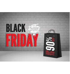 black friday mega sale banner template vector image