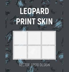 blue leopard print skin vector image