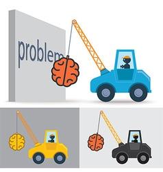 Brain Crane Idea vector image