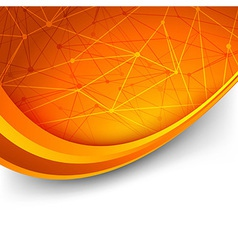 Bright orange intricacy molecule background vector image