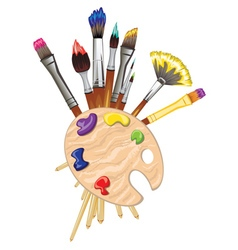 Brushes and Palette2 vector