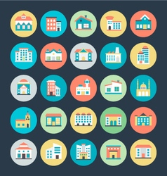 Buildings Icons 4 vector image