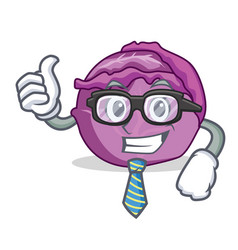 businessman red cabbage character cartoon vector image