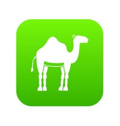 camel icon digital green vector image