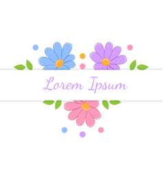 card with some flowers design element vector image