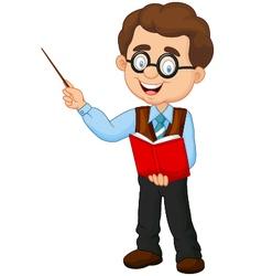 Cartoon male teacher vector