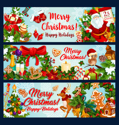 Christmas new year winter holidays festive banner vector