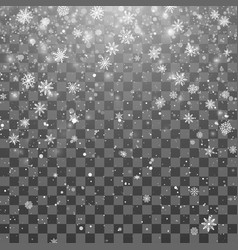 christmas snow magic new year snowfall background vector image