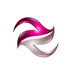 Creative 3 dimensional abstract logo design vector