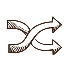 Crossed arrows vector image