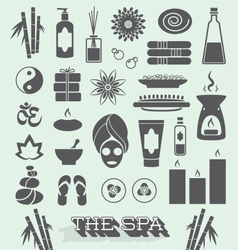 Day at The Spa Icons and Symbols vector