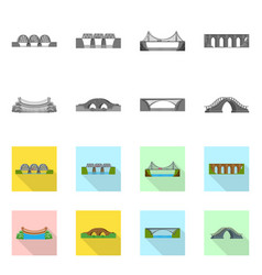 design of connection and design icon set vector image