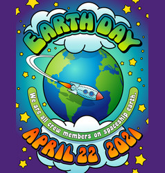 earth day 2021 poster design vector image