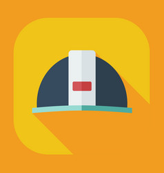 Flat modern design with shadow icons hard hat vector