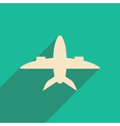 Flat with shadow icon and mobile applacation plane vector