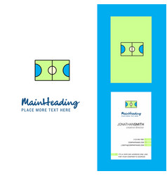 football ground creative logo and business card vector image