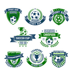 football isolated icons for sport bar vector image