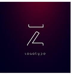 Futurism style letter z minimalist type vector