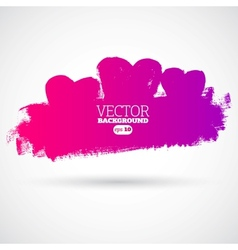 Graphic grunge hearts ink splatter vector