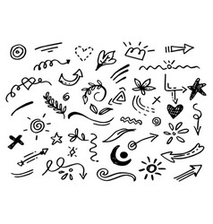 Hand drawn collection design element vector