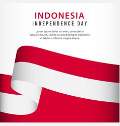 Indonesia independence day celebration banner set vector