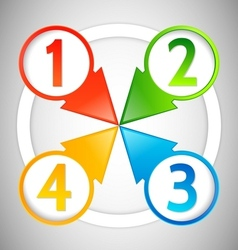 info pointers with numbers vector image