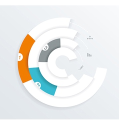 Infographics circle origami style vector image
