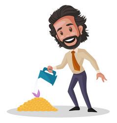 Investment advisor cartoon vector