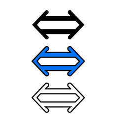 left and right double arrow vector image