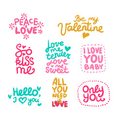 Love labels set vector