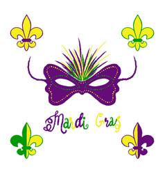 Mardi gras carnival set masquerade vector